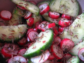 German Cucumber and Radish Salad By Ng @ Whats for Dinner?