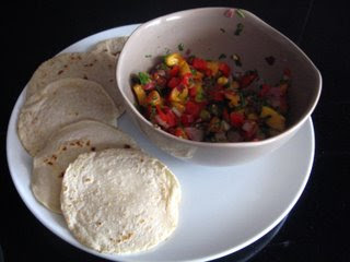 Peach Salsa with Homemade Corn Tortillas by Ng @ Whats for Dinner?