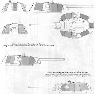 Варианты бронирования башни танка Т-34