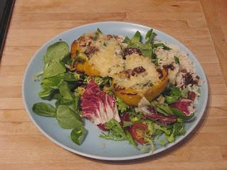 stuffed peppers & salad