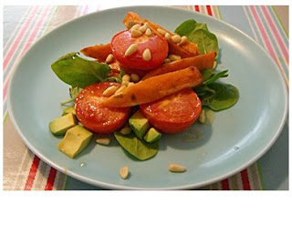 toasted pine nut & sweet potato salad