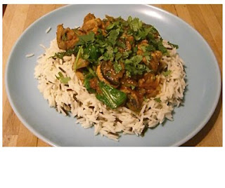 fragrant chicken and spinach curry