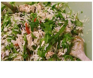 chicken & rice salad