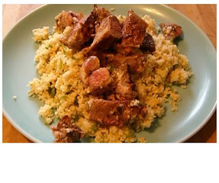 minty yoghurt lamb with nutty cous cous