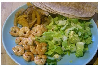 prawn fajitas with spicy tomato & avocado salsa