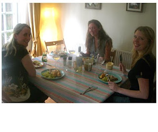 roast chicken, lovely ladies and pickles