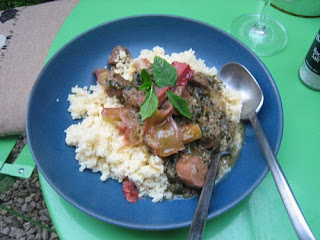 persian-style lamb and rhubarb stew