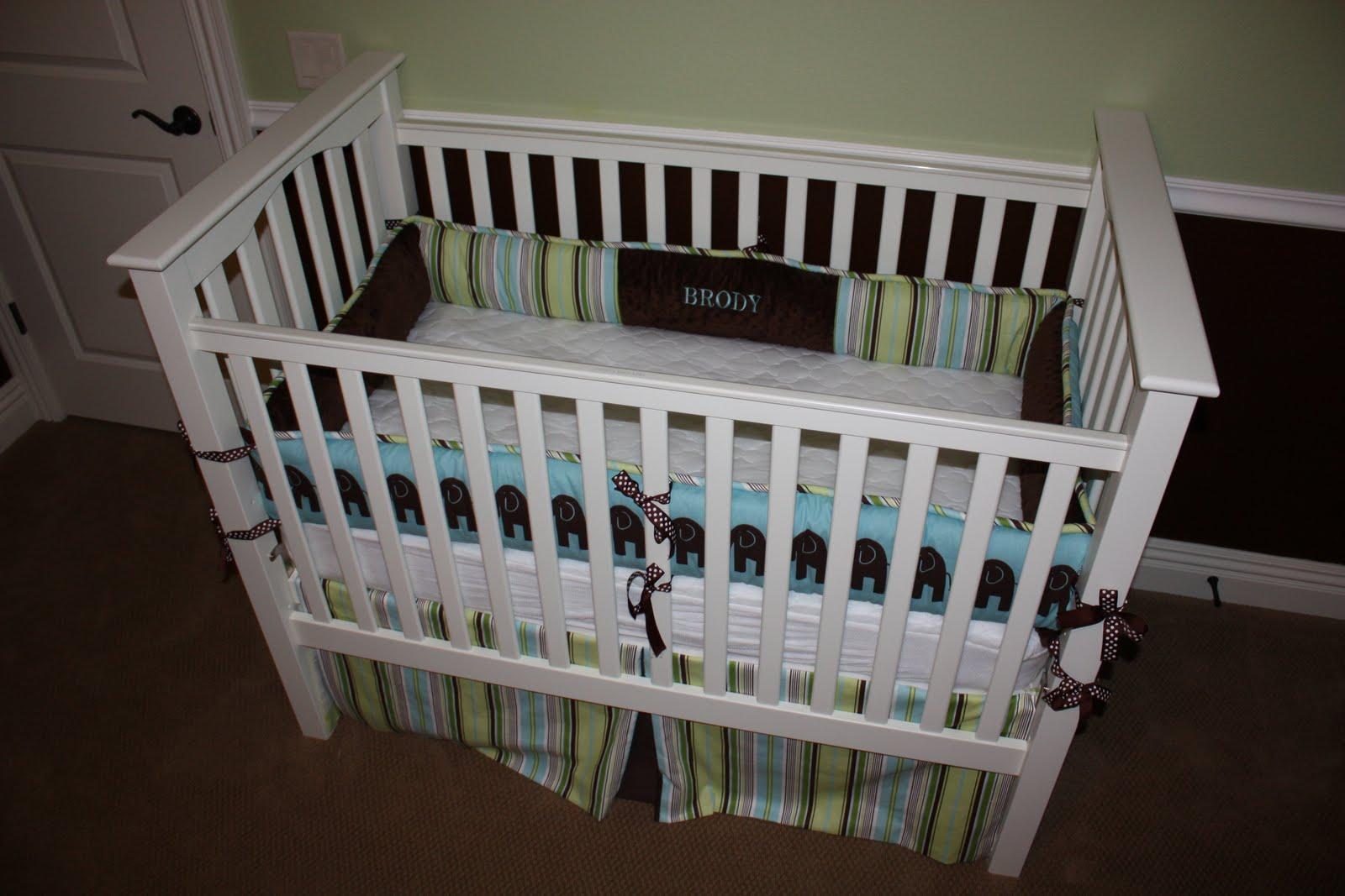 Minky Dot Crib Bedding Set