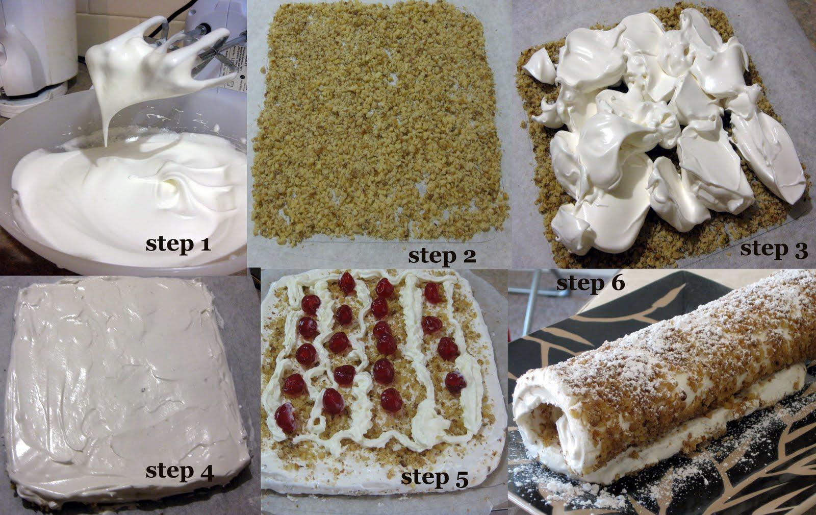 Recipes @ Panchamrutham: Easy Pavlova Roll !!