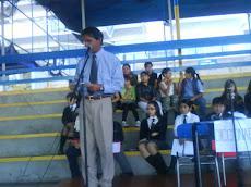 Nuestro Director, don Antonio López Cárdenas...