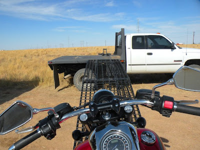 Yamaha Raider Driving Onto Flatbed