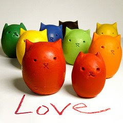 Kitty Egg crayons tutorial