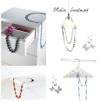 interior design, arredamento,gioielli, jewelry, Malin Lundmark