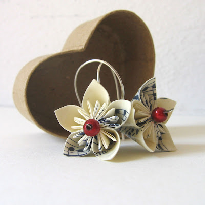 paper, paper jewelry, flower, paper music, lotus, origami