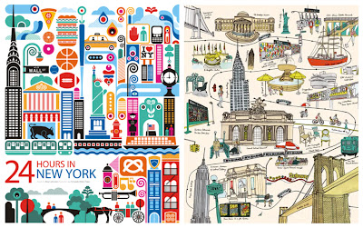 giro-vagando, wander about, NY, New york city, illustrations,