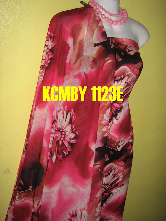 KCMBY 1123E: KOREAN CHIFFON MATCHING BY YNR, 2M+2M, BHG BAJU BERBATU DAN SEDERHANA JARANG
