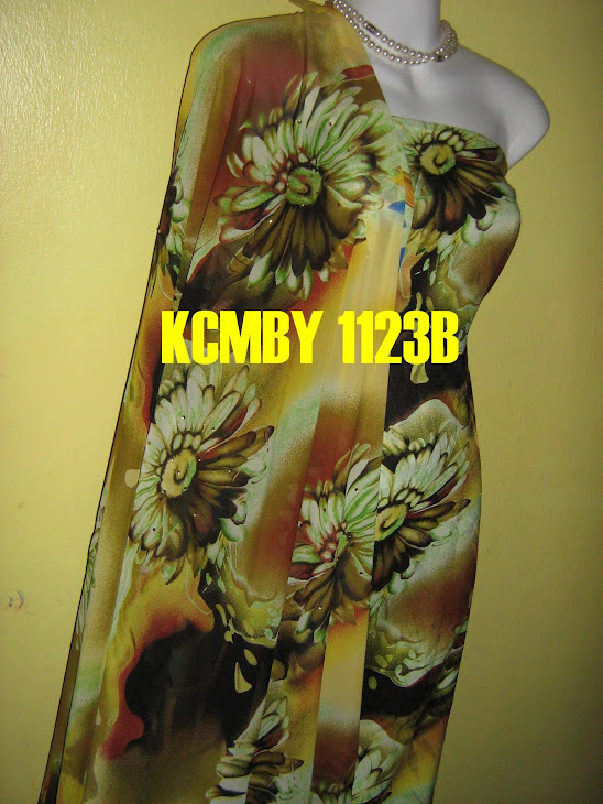 KCMBY 1123B: KOREAN CHIFFON MATCHING BY YNR, 2M+2M, BHG BAJU BERBATU DAN SEDERHANA JARANG