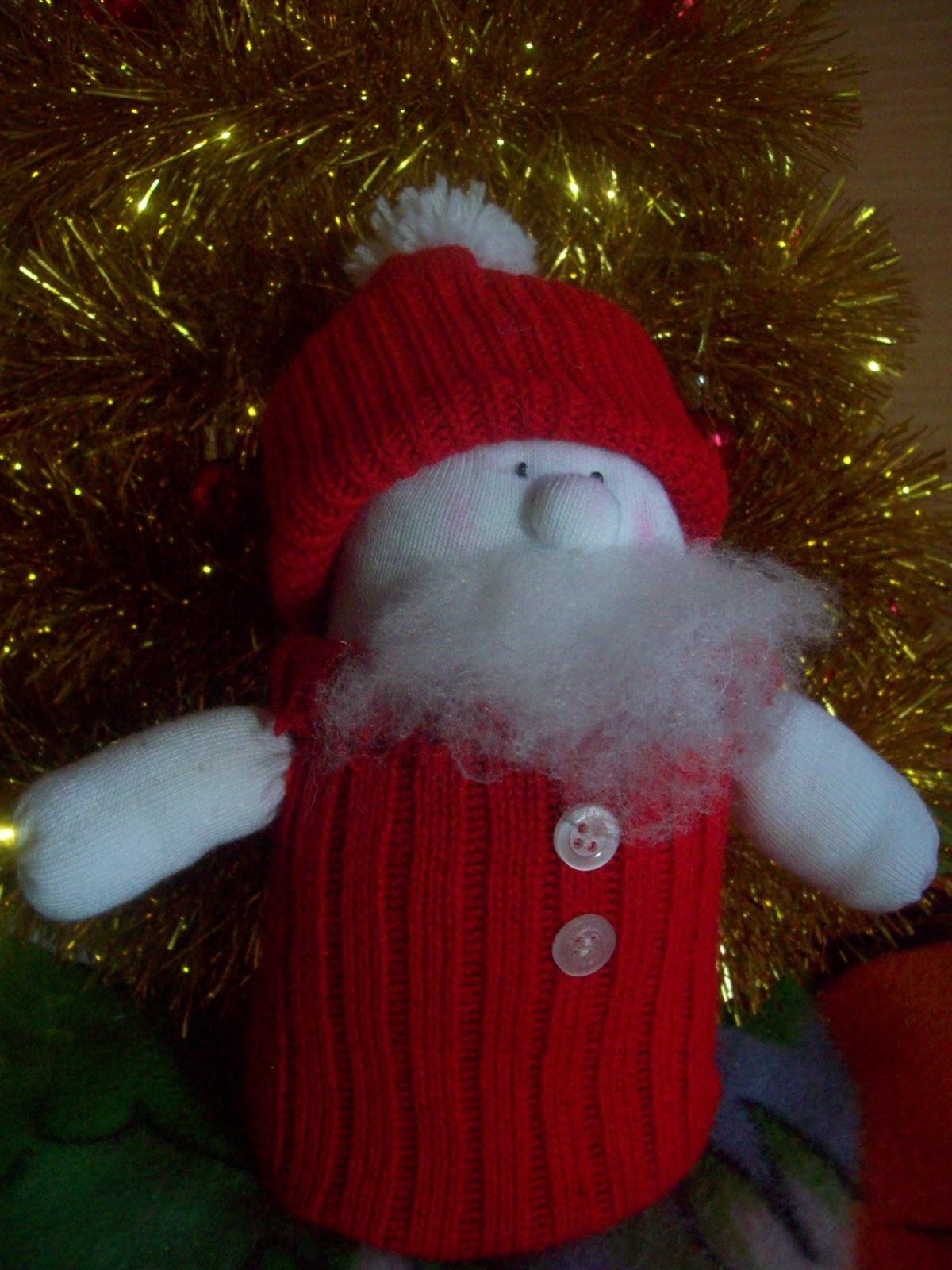 Дед мороз поделка своими руками из носка