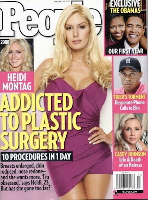 Heidi Montag latest pictures on People magazine after her 10 plastic surgery (2010)