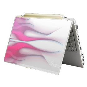 Pink Skin Sticker Laptop Notebook Flame