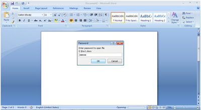 Protect The Microsoft Word Document With Password