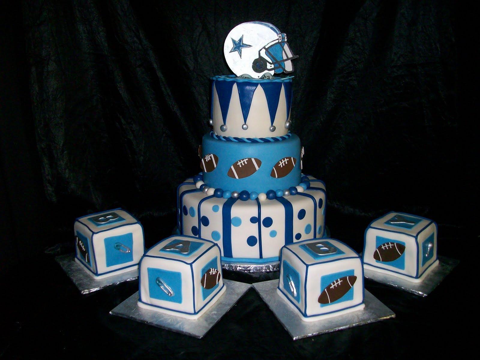 Texas Cowboys Baby Shower Cake