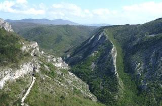 la Val Rosandra vista dalla Vedetta di Mocco