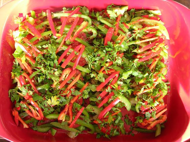 Among the numerous delicious vegetables that I hated as a kid Baked Okra (Fırında Bamya)