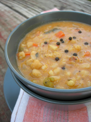 A hearty delicious soup for the last cold days of winter from Garbanzo Beans and Soft Wheat Berries Soup (Nohut ve Buğdaylı Çorba)