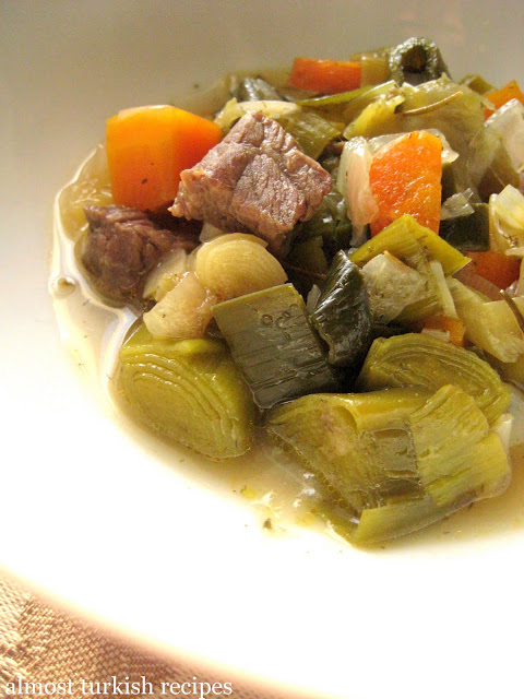 Leeks With Stew Beef