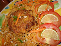 MACKEREL FISH CUTLET WITH LINGUINE