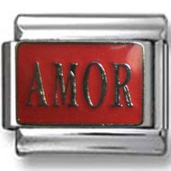 Amor Enamel Italian Charm