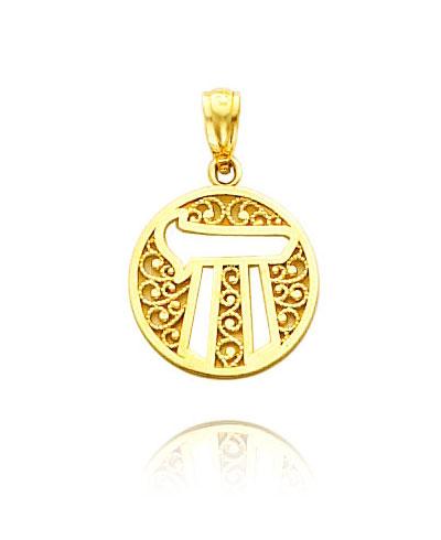 14K Gold Chai Medal
