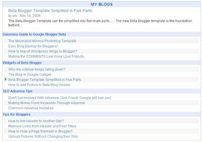 table of contents with preview for blogger the blog doctor