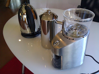 New coffee equipment at the Urbane co-working space in Birmingham, Michigan