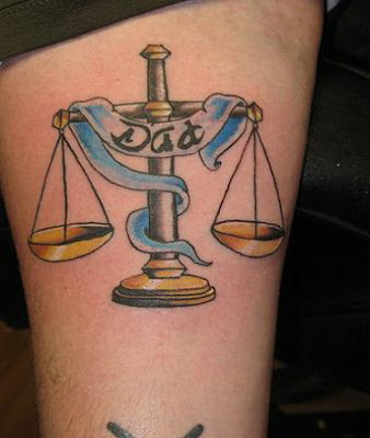 Libra Tattoos Design for Men