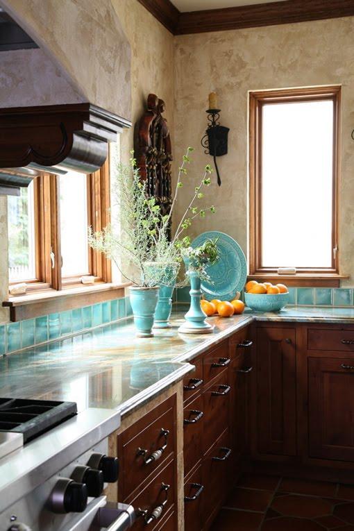 Turquoise Kitchen 4 Image