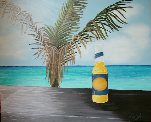 Beer in Paradise - 24 X 20 - $400