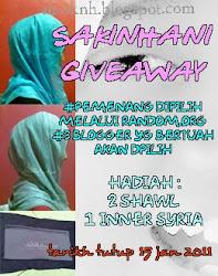 Sakinhani Giveaway