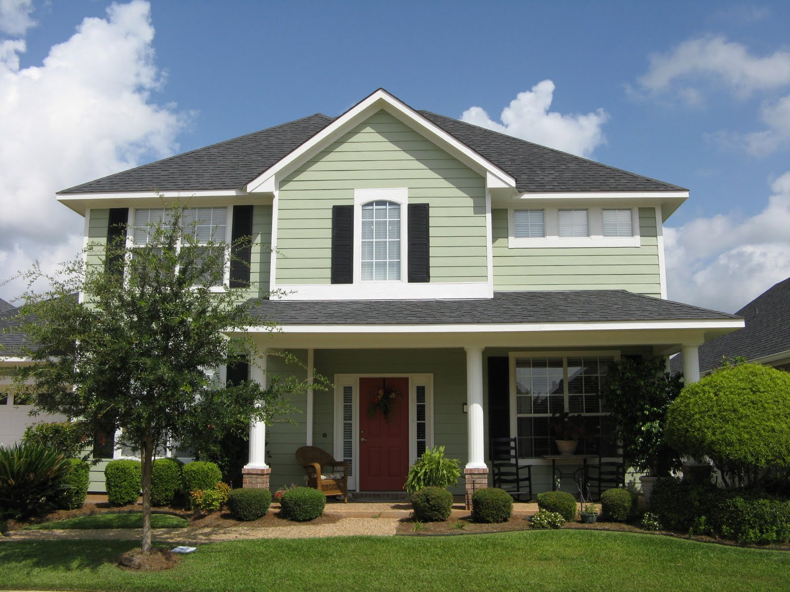 A Little Happy Home Exterior Facelift: outside color for house