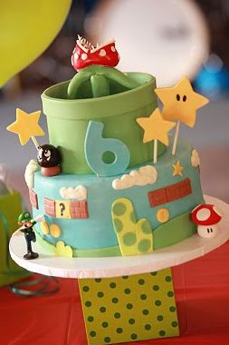 Super Mario theme party      http://www.frostedevents.com