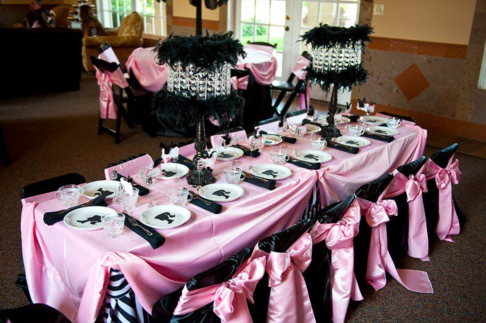 Bridal Shower Table Settings