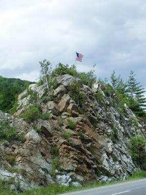 Flag Rock in the Median Strip