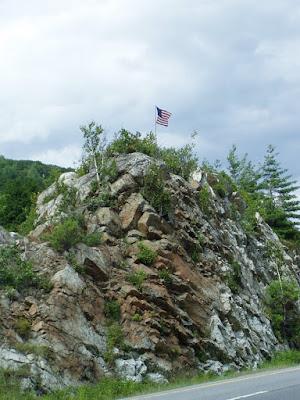 Flag Rock in the Median Strip