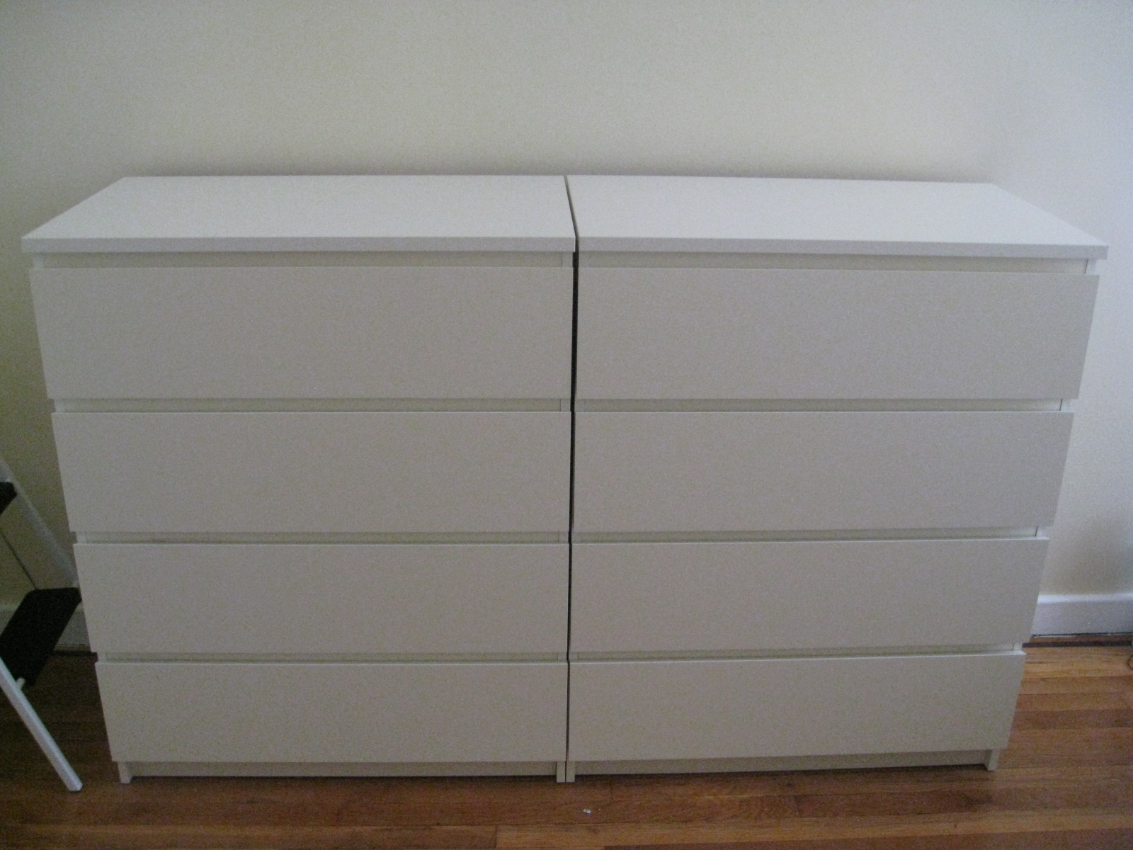 ikea malm drawer white chest dresser