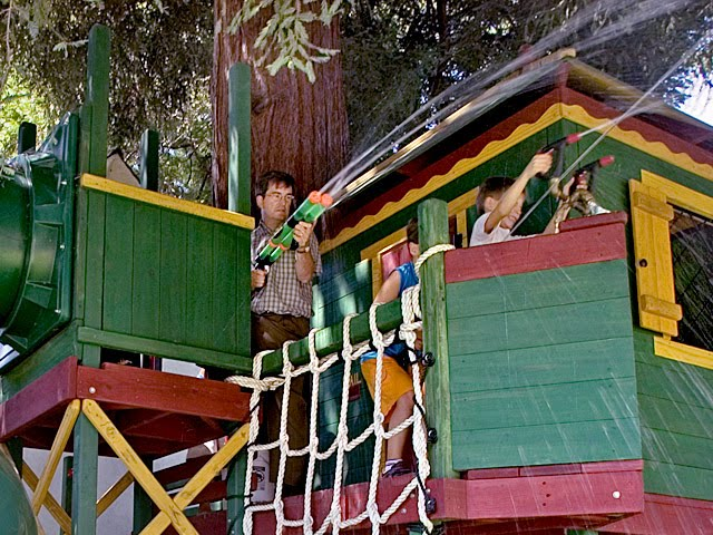 01+Redwood Roughhouse Green Tree Houses for Kids