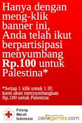 Support Rp.100,- untuk Palestina