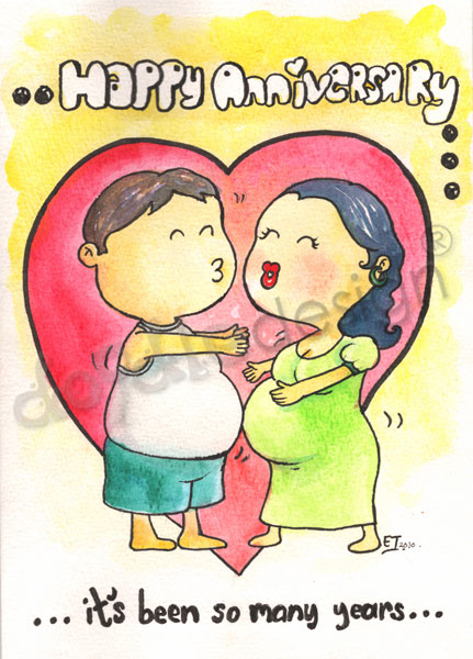 doodledesign: A Belly Funny Wedding Anniversary Card