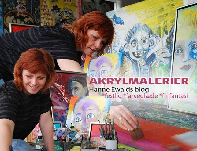 akrylmalerier