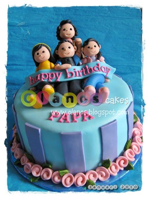 Cake Images Papa : Olanos: Family Topper Birthday Cake for Papa